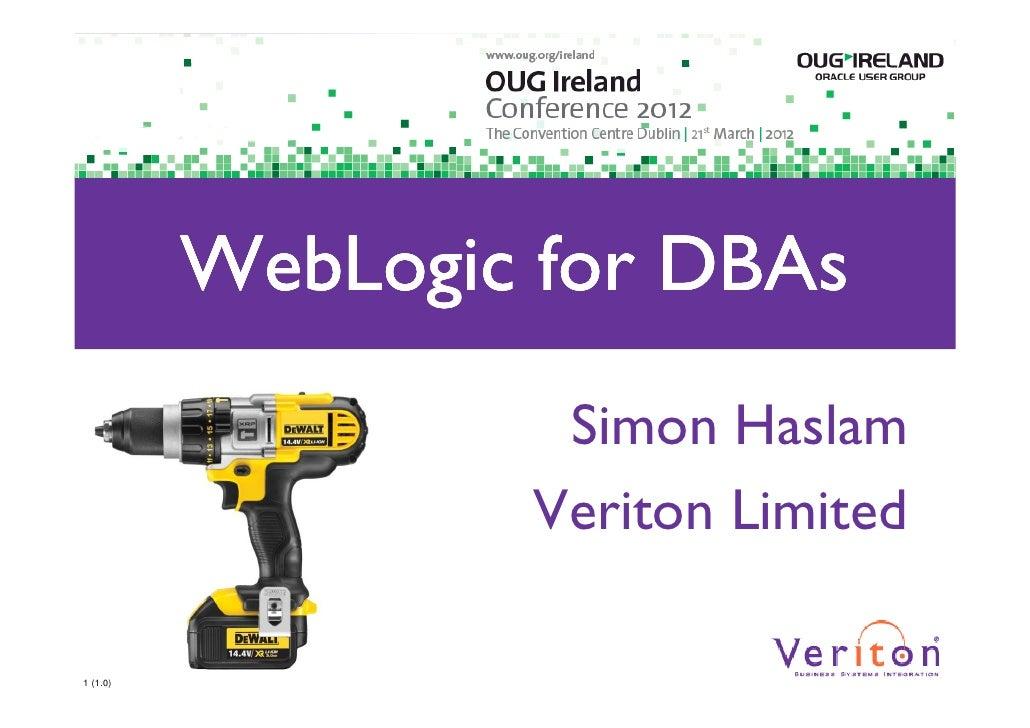 WebLogic for DBAs 1.0h