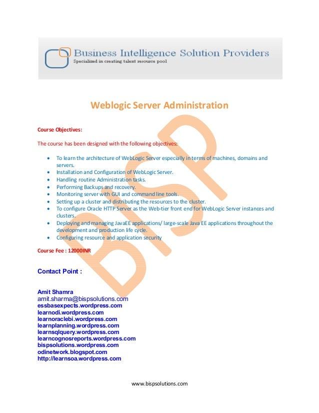 Weblogic server administration