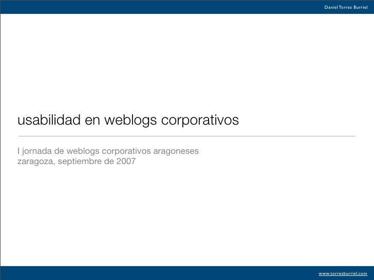 Weblogs Y Usabilidad