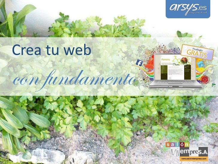 Crea tu webcon fundamento