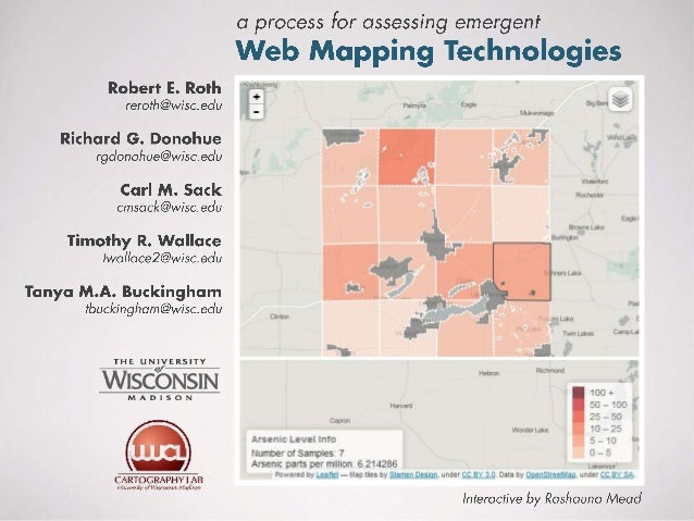 A process for assessing emergent web mapping technologies