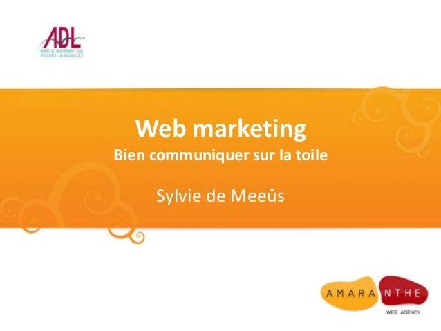 Web marketingBien communiquer sur la toile     Sylvie de Meeûs