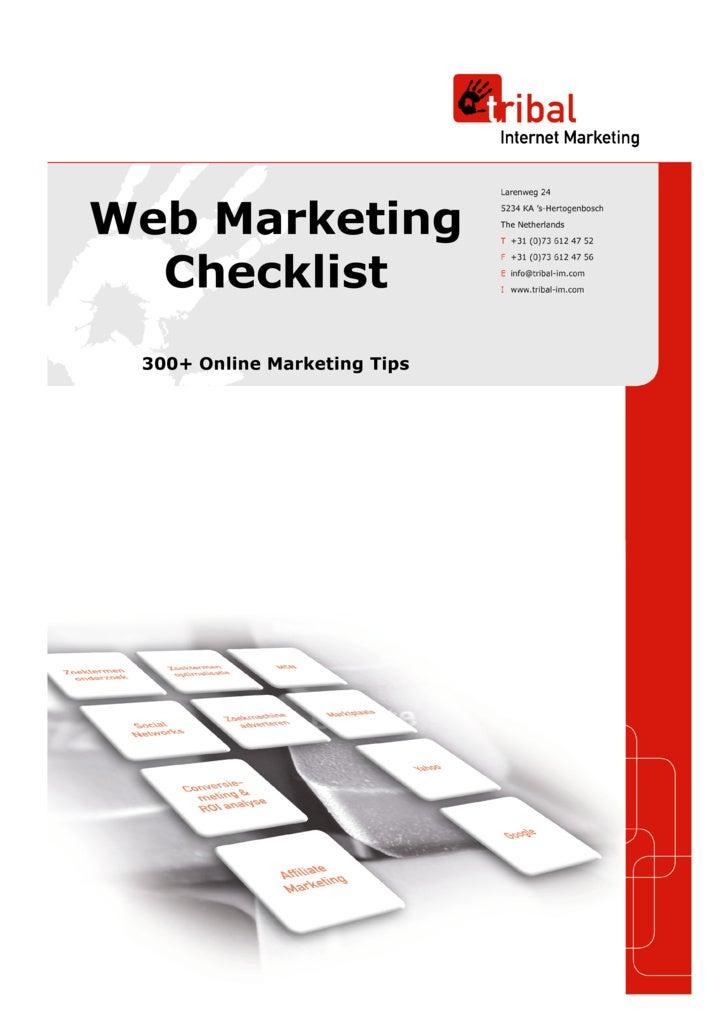 Web Marketing   Checklist  300+ Online Marketing Tips