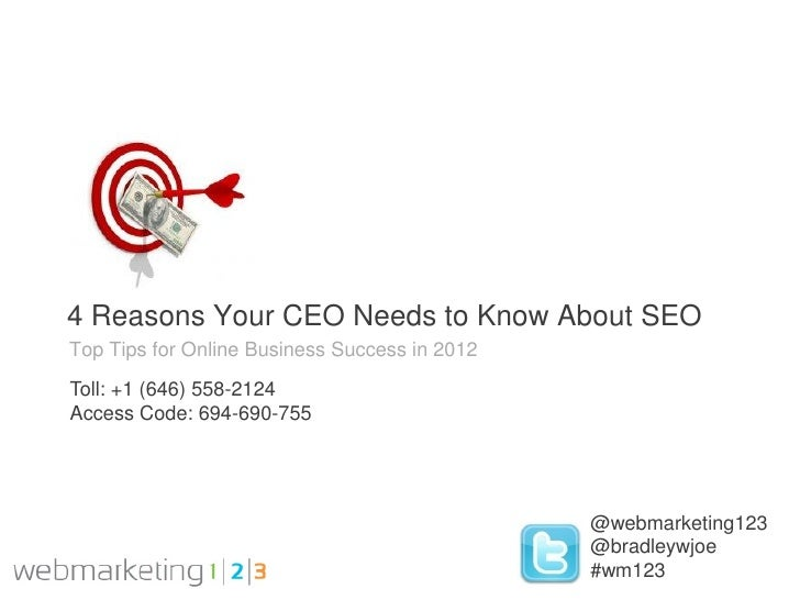 4 Reasons Your CEO Needs to Know About SEO in 2012