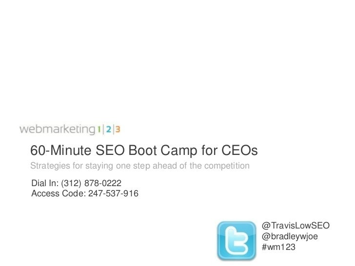 60-Minute SEO Boot Camp for CEOs