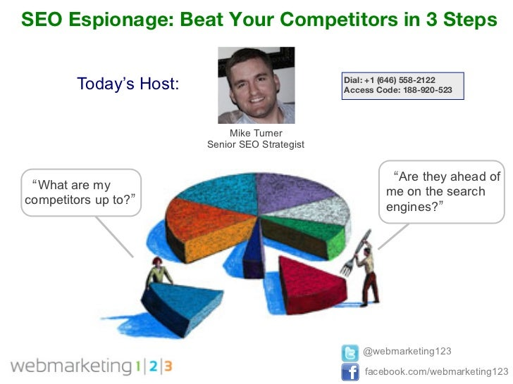 SEO Espionage: Beat Your Competitors in 3 Steps        Today's Host:                           Dial: +1 (646) 558-2122    ...