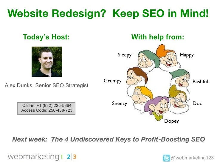 Webmarketing123 website redesign keep seo in mind!