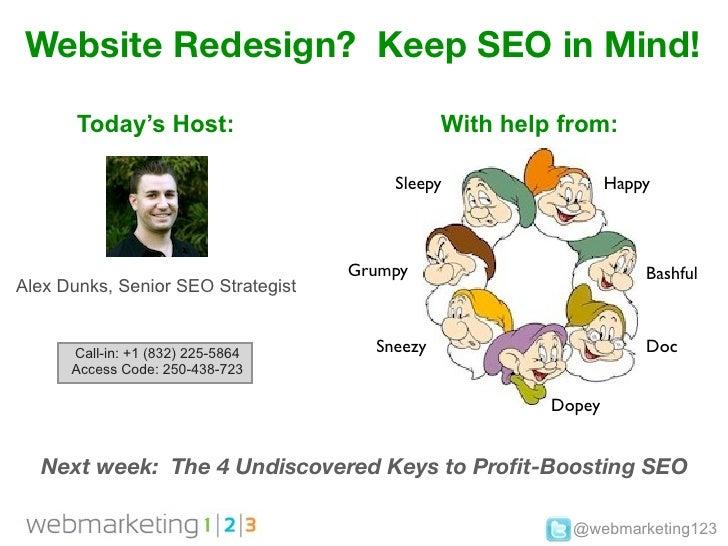 Webmarketing123 website redesign keep seo in mind!