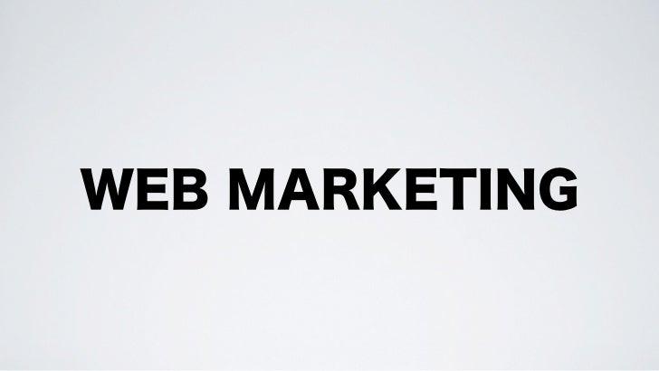 Web Marketing (anche nei social media) spicciolo