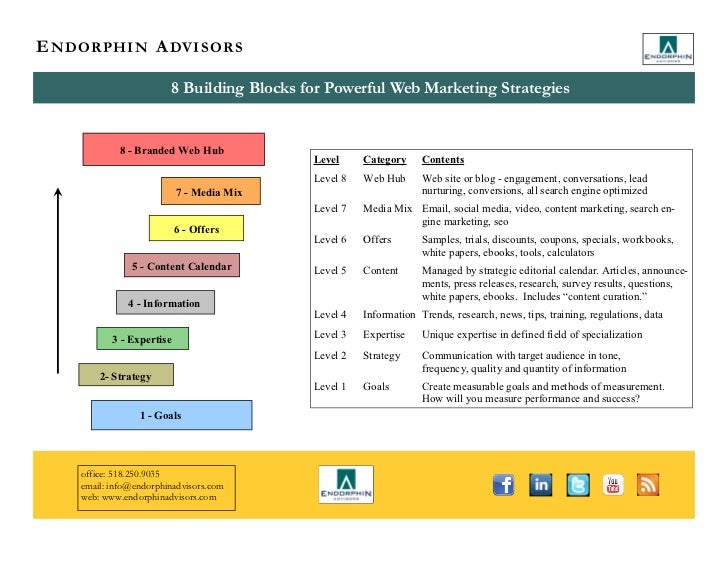 E N D O R P H I N A DV I S O R S                          8 Building Blocks for Powerful Web Marketing Strategies         ...