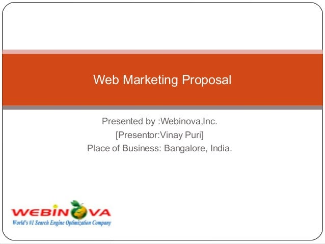 Web Marketing Proposal - Know how SEO can bring you ROI of upto 4000% and more !
