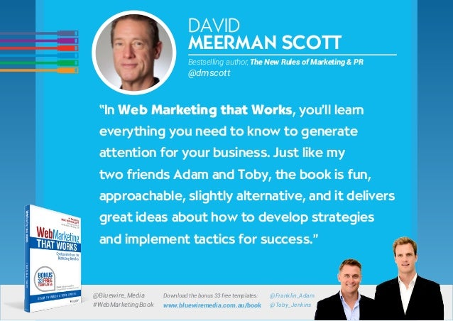 Web Marketing That Works books endorsements