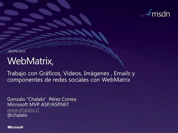 Web matrix session 3