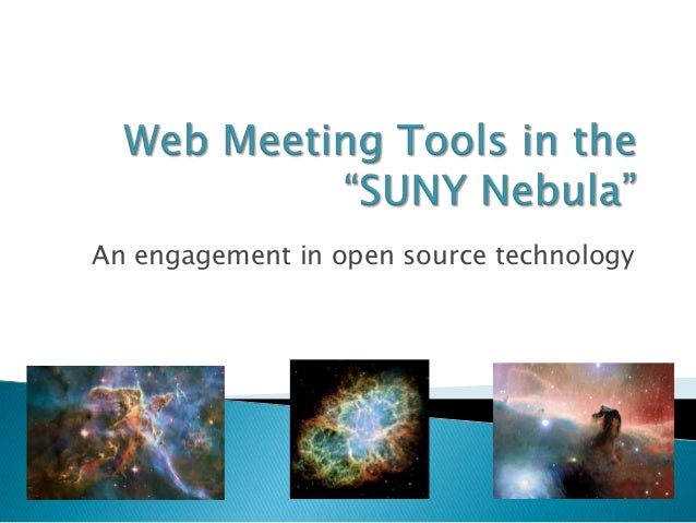 Web Meeting Tools In The Suny Nebula