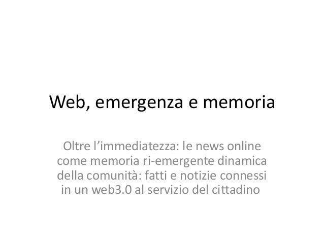Web memory.