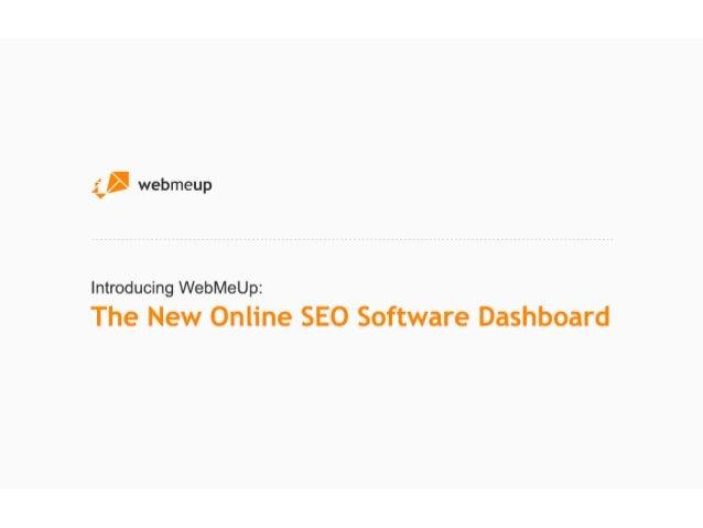 WebMeUp: the new SEO software dashboard
