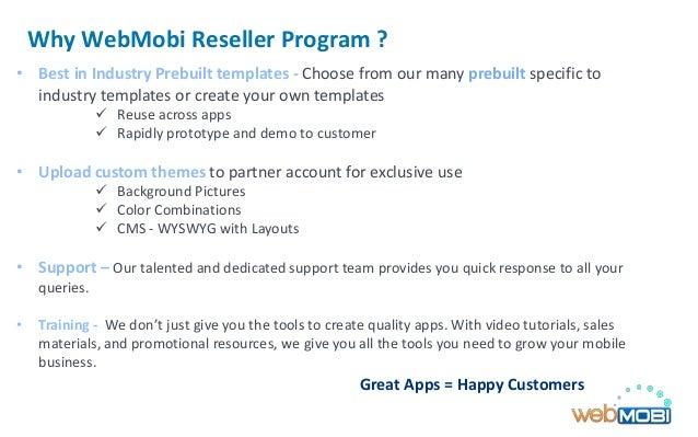 Reseller Program Template Why Webmobi Reseller Program