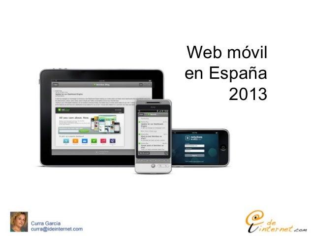 Web móvilen España2013
