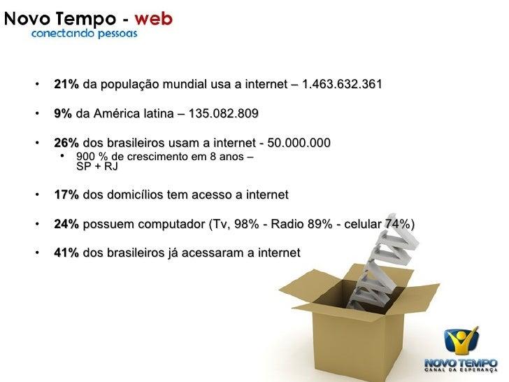 Onde estamos <ul><li>21%  da população mundial usa a internet – 1.463.632.361 </li></ul><ul><li>9%  da América latina – 13...