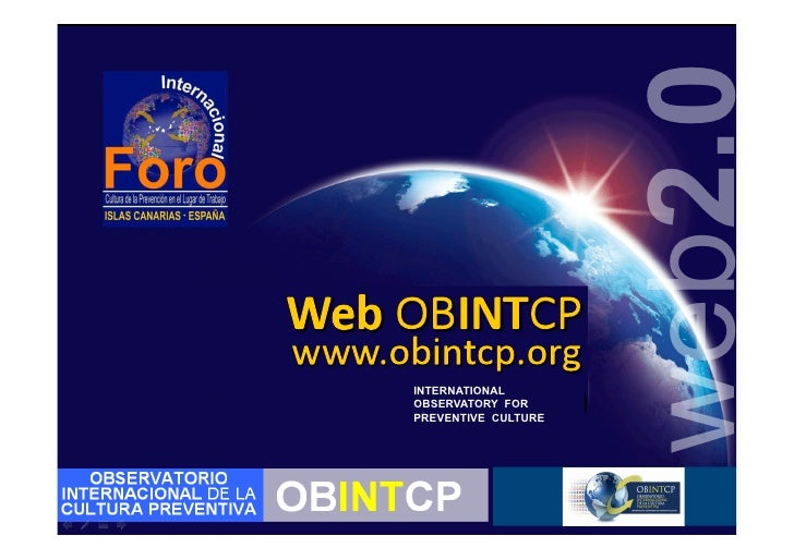web2.0 INTERNATIONAL OBSERVATORY FOR PREVENTIVE CULTURE