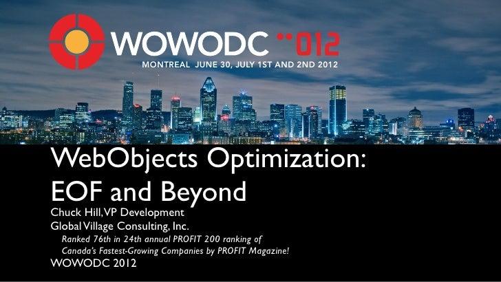 WebObjects Optimization