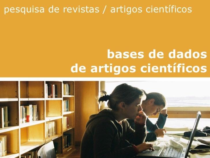 Pesquisa artigos cientificos