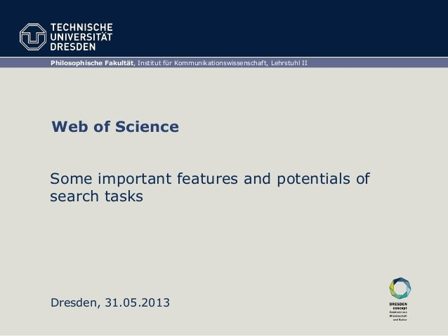 Web of Science – A Short Insight