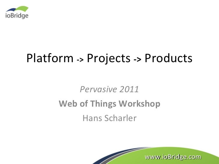 ioBridge Web of Things Platform, Projects, and Products