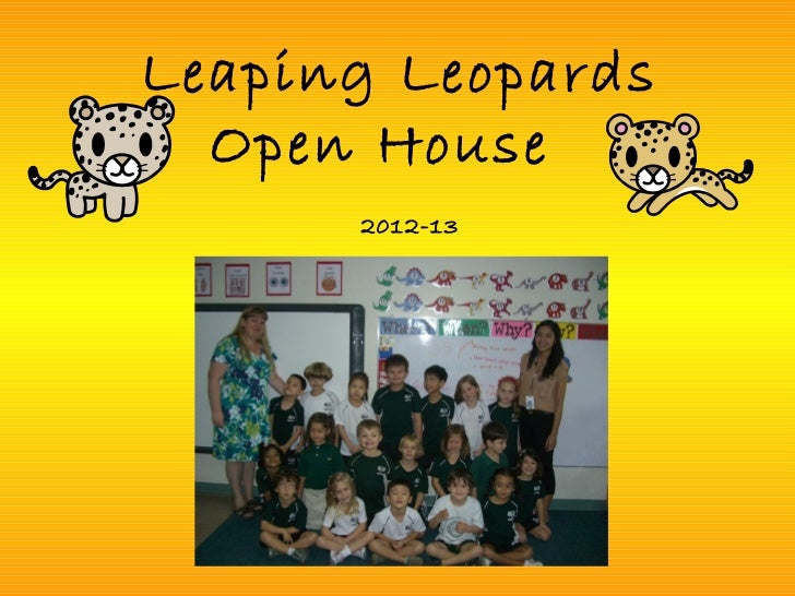 Leaping Leopards  Open House      2012-13