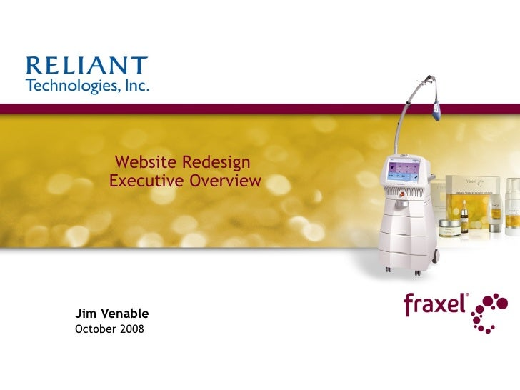 Jim Venable October 2008 Website Redesign  Executive Overview