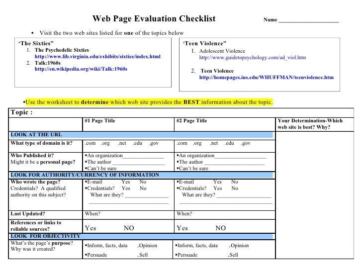 Web page evaluation_worksheet-revised2007