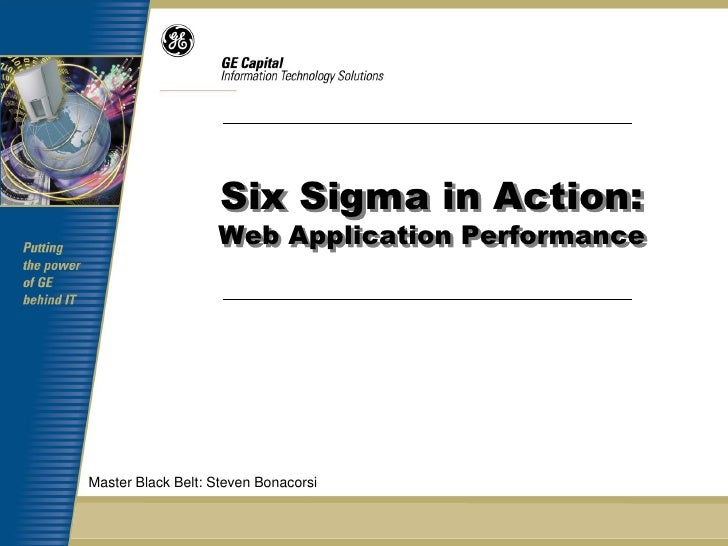 Web Page Load Cycle Time Six Sigma Case Study