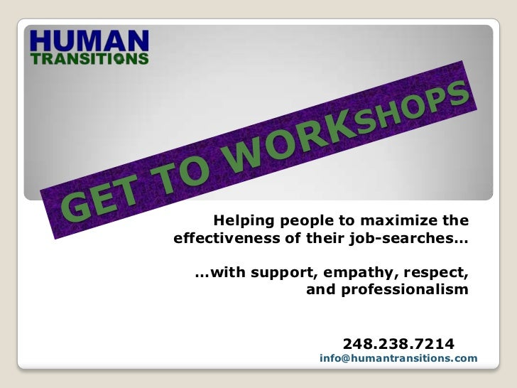 GET TO WORKshop Presentation for job-seekerst   Gtw   Non Alterable