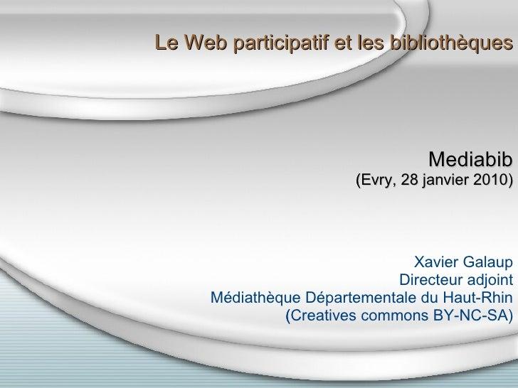 Le web participatif et les bibliothèques