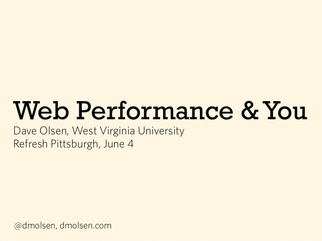 Web Performance & You