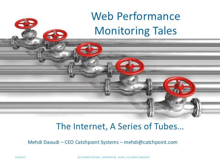 Web Performance Monitoring Tales