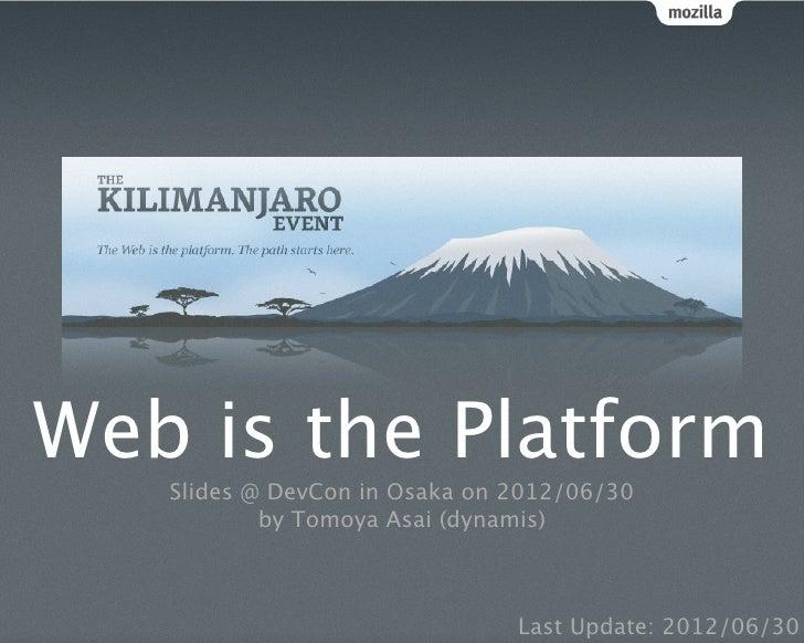 Web is the Platform