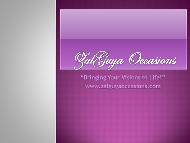 ZalGuya Occasions Portfolio