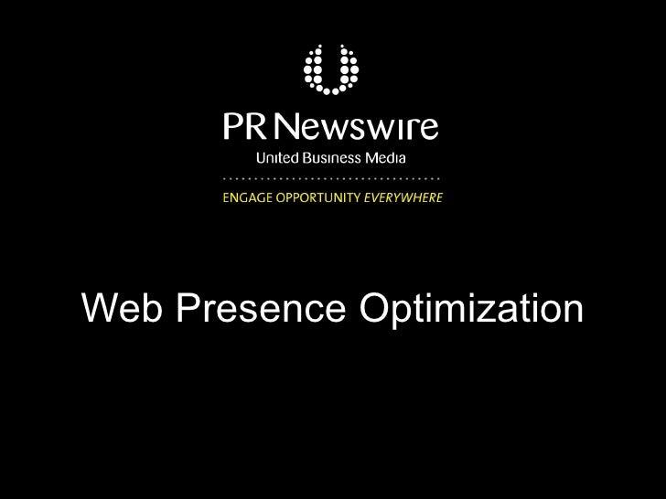 Web Presence Optimization
