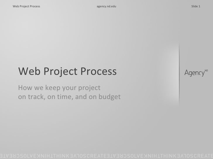 Web Project Process How we keep your project  on track, on time, and on budget