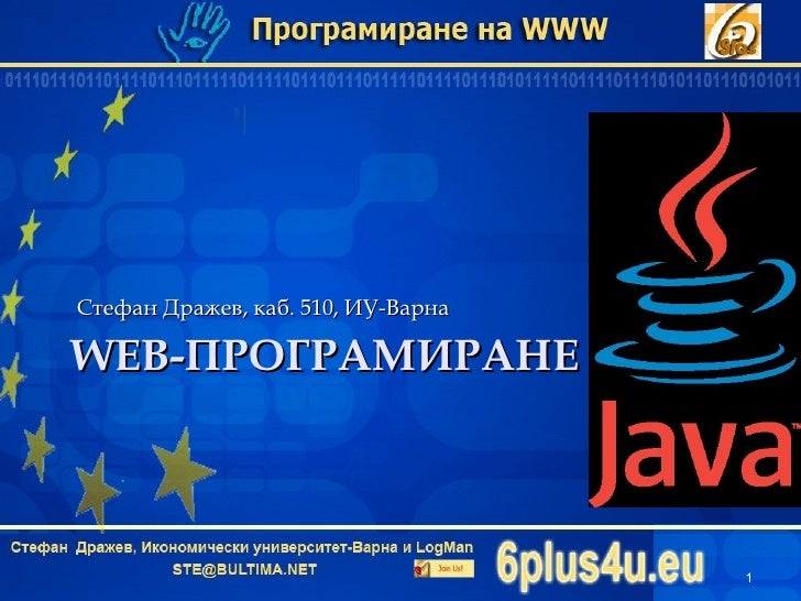 Programming with Java Intro