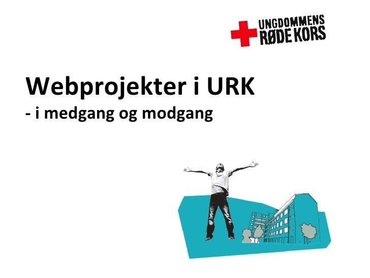 Webprojekter i URK - i medgang og modgang