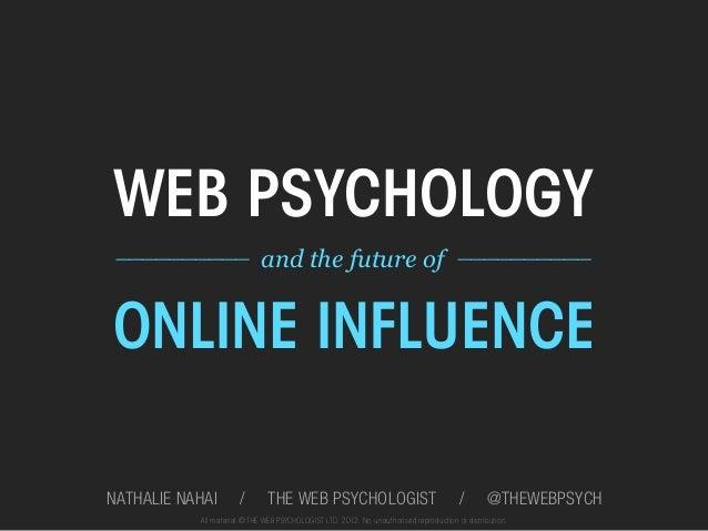 Upload Lisboa 2012: Nathalie Nahai:Web psychology and the future of online influence