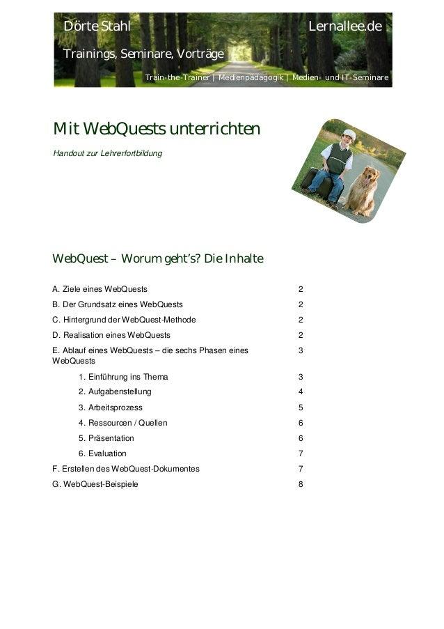 Dörte Stahl  Lernallee.de  Trainings, Seminare, Vorträge Train-the-Trainer | Medienpädagogik | Medien- und IT-Seminare  Mi...