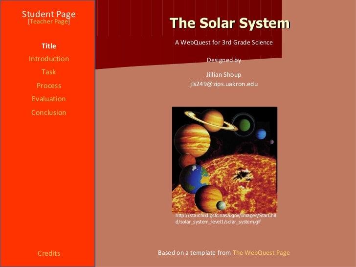 Solar System Webquest 2