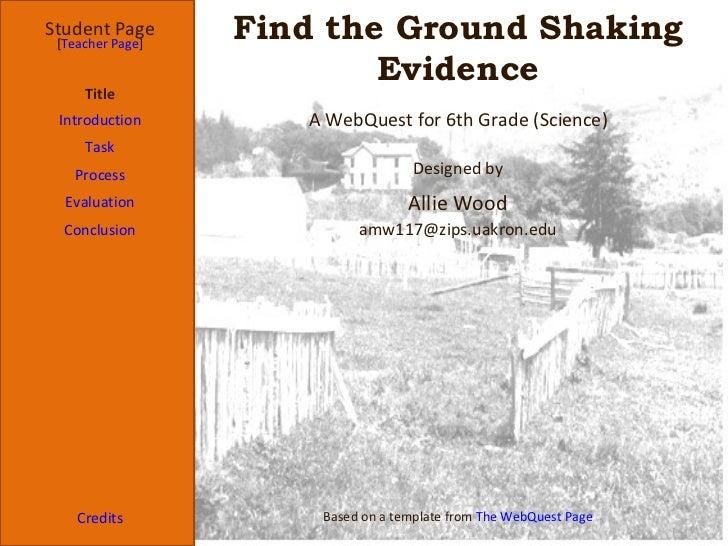 Webquest template4036