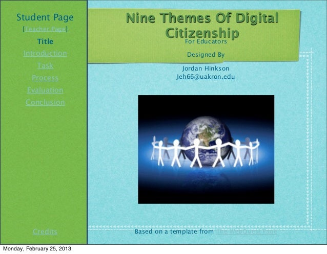 Student Page            Nine Themes Of Digital       [Teacher Page]                                  Citizenship          ...