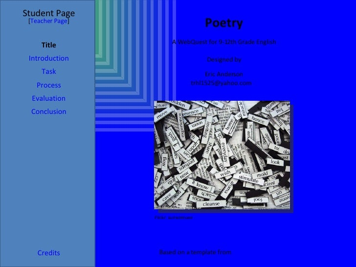 Poetry WebQuest