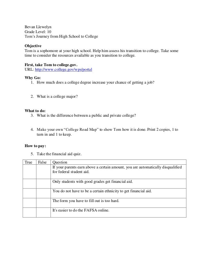 Webquest college