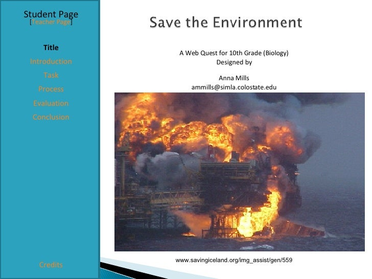 Student Page Title Introduction Task Process Evaluation Conclusion Credits [ Teacher Page ] A Web Quest for 10th Grade (Bi...